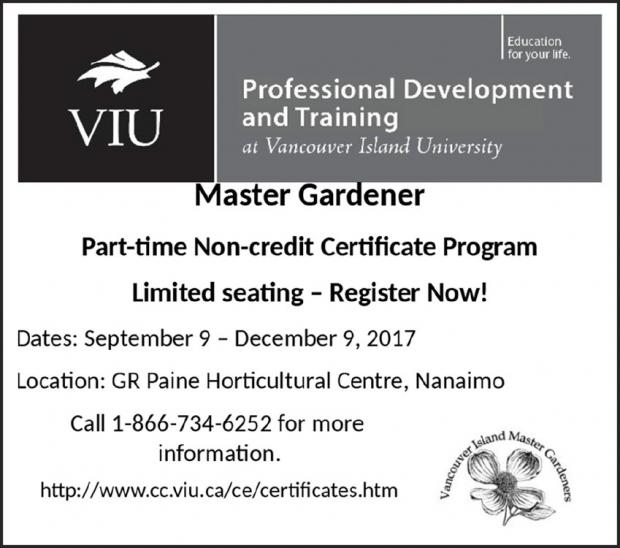 Master Gardener program at VIU, fall 2017